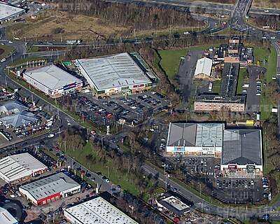 Kingstown Retail Park - aerial view